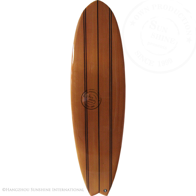 Hout Fineer Epoxy Surfplanken Made in China Houten Vissenstaart Surf Board