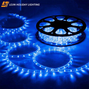 Christmas blue black light led rope Mainly Festivals outdoor decoration