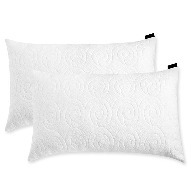 Custom Adjustable Hypoallergenic Infused Fill Bed Shredded Memory Foam Pillow with Removable Bamboo Cover
