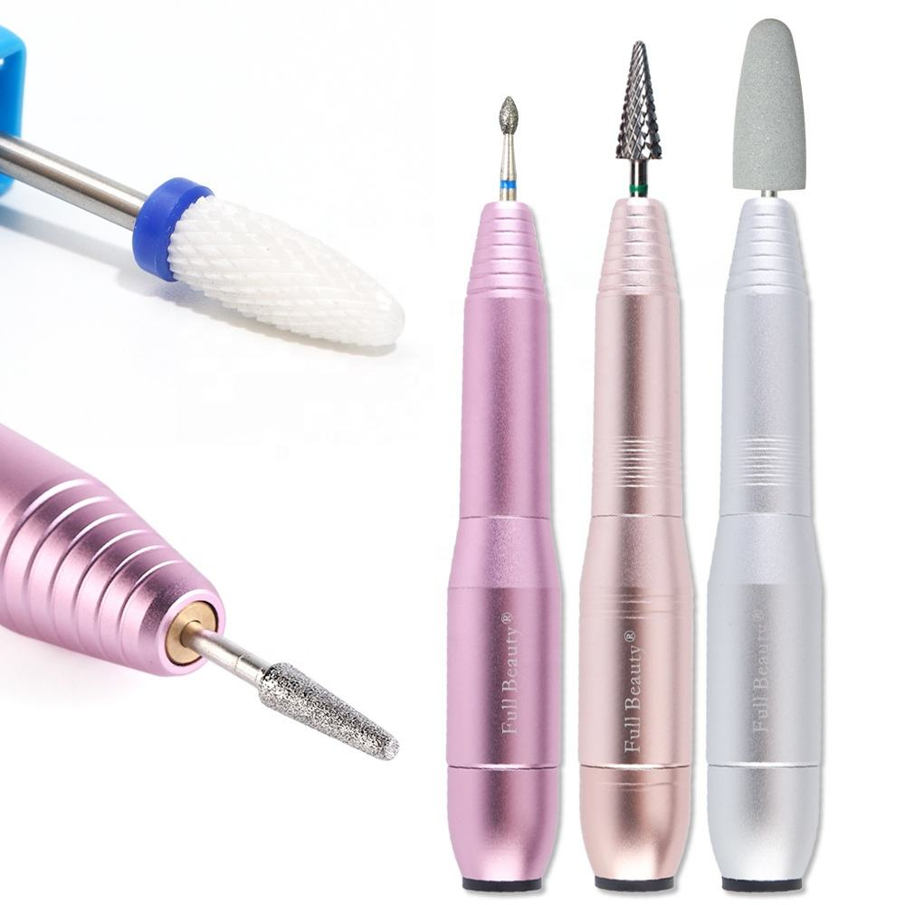 Manicure Machine Portable Type Electric Nail Drill Handpiece Mill Cutter Diamond Pedicure Pen for Nail Art Drill Bits File Tool