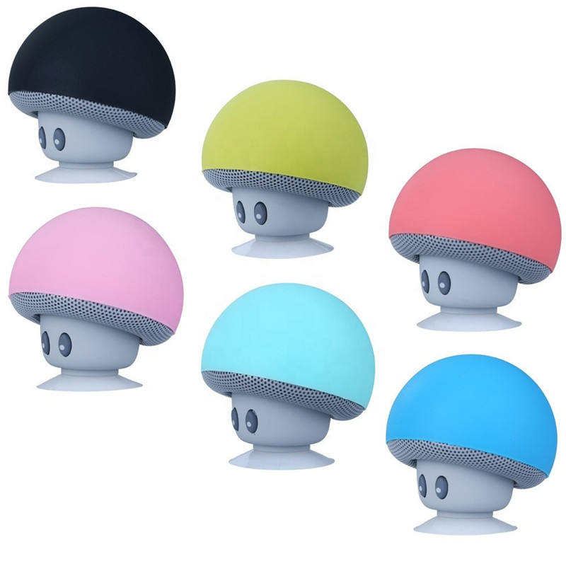 Hottest 2020 Mini Portable Wireless Mushroom 4.2 Blue tooth Speaker, Cute Speakers