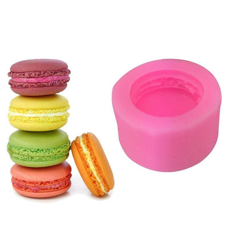 3D stereo macaron style Embossed Silicone Mold Relief Fondant Cake Decorating Tools mold