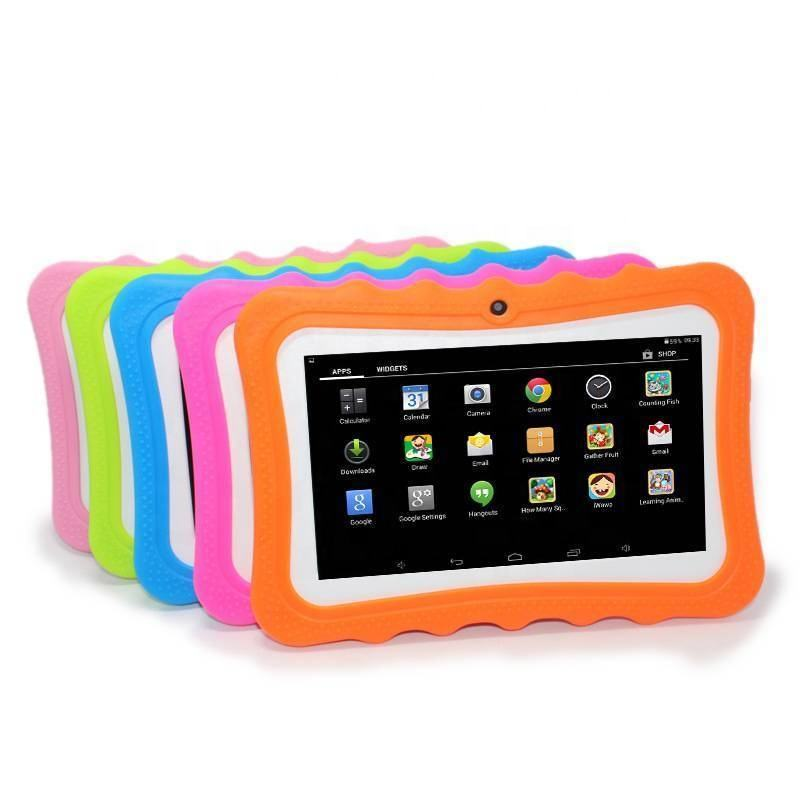 Cheap Kid's Children Tablet With Touch 7inch Screen Educational Learning Android Kids Tablet With Silicon Case Stand in VIdhon