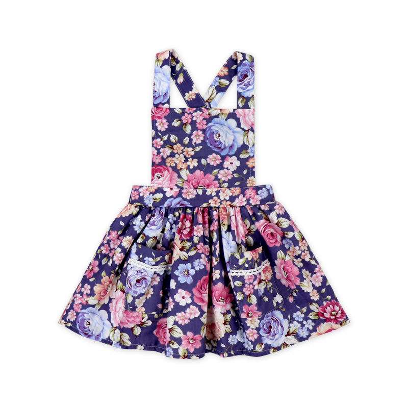 Girl Pinafore Flower Dress Baby Dress Princess