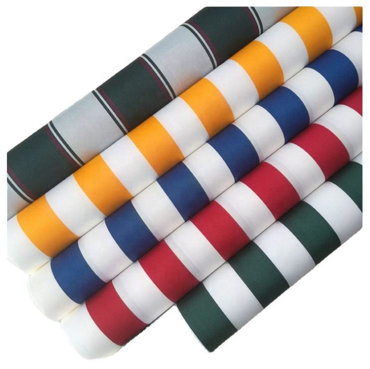 hot sale 100% polyester 600D 2000mm waterproof yarn dyed oxford striped awning fabric for tent