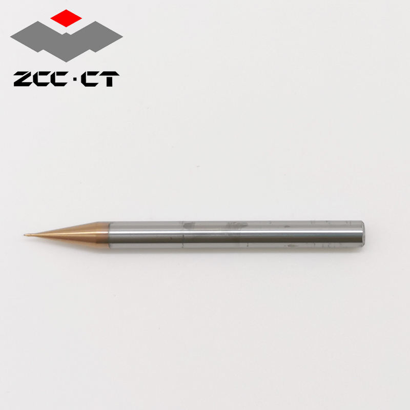 2-flute tiny ball nose end mills for high speed, high precision machining and high precision electronic components from ZCC-CT.