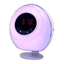 2020 Hot Selling Wake Up Light FM Radio Electronic Sunrise LED Light Alarm Clock Radio