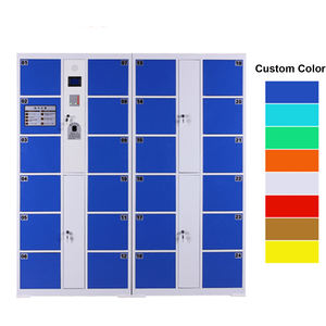 China factory directly supermarket steel metal charging coin operated locker