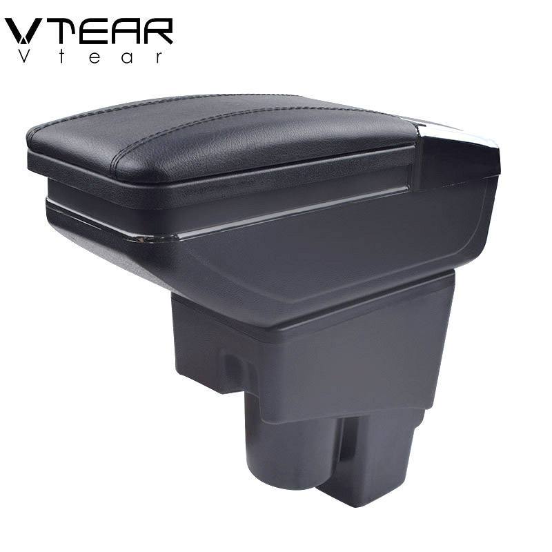 Vtear For Honda Fit armrest car central Store content Storage box products interior Arm rest car-styling accessories parts 04-07