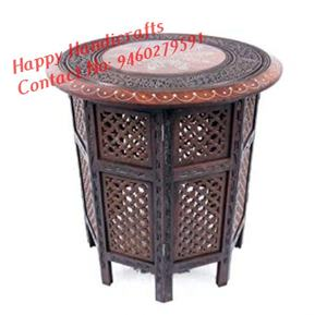 Handpainted Round Side Table Accents Home Decor Indian - Buy Christmas Decor Christmas