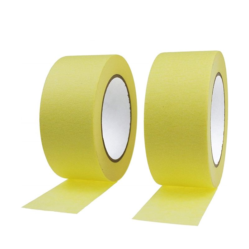 High Temperature Resistant Auto Refinish Automotive Yellow Painting Masking Tape