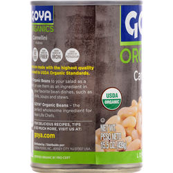 Good Source of Protein, Iron,  Organic Cannellini Beans 15.5 Oz