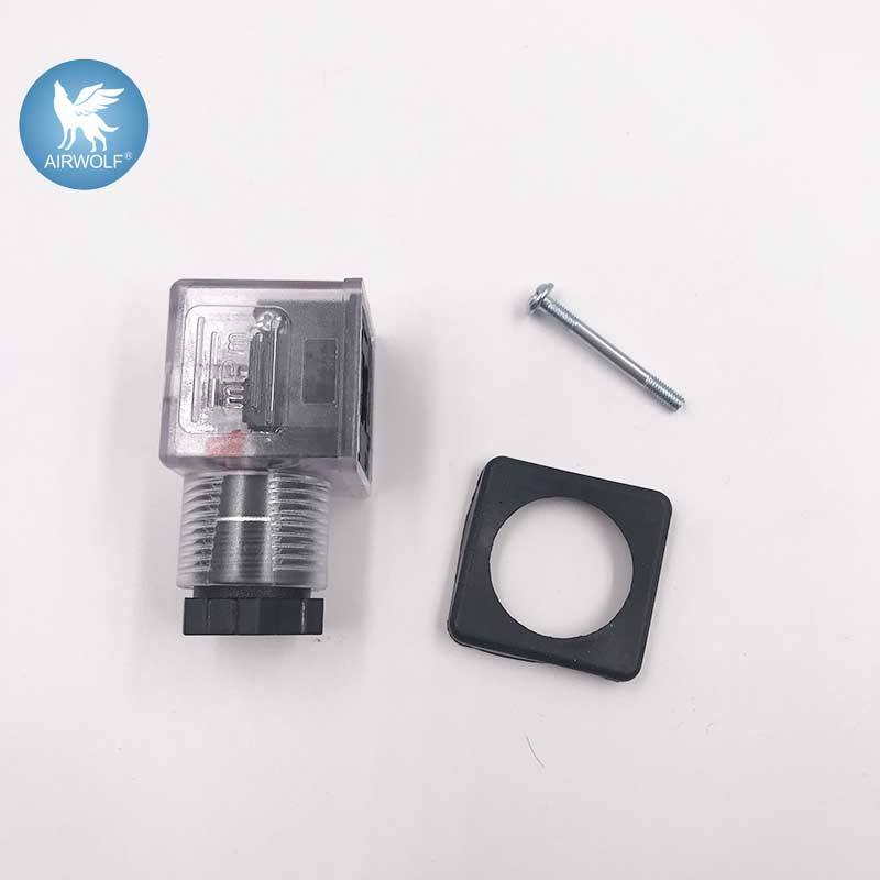 DIN43650A apply to 0200 solenoid valve coil 3 pin din connector