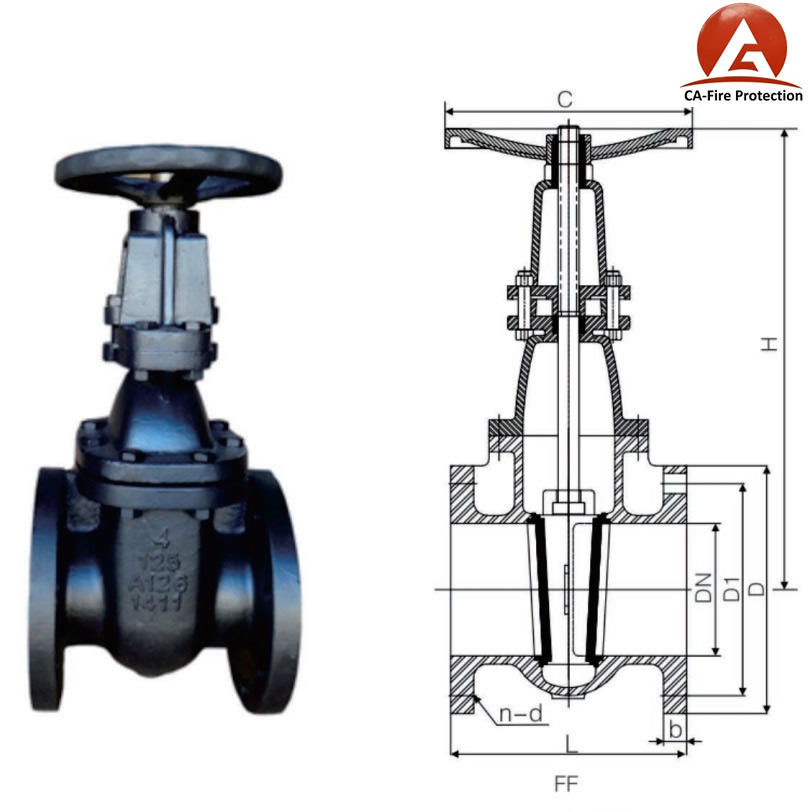 Meter Air Batang Panjang Stainless Steel 316 Gate Valve