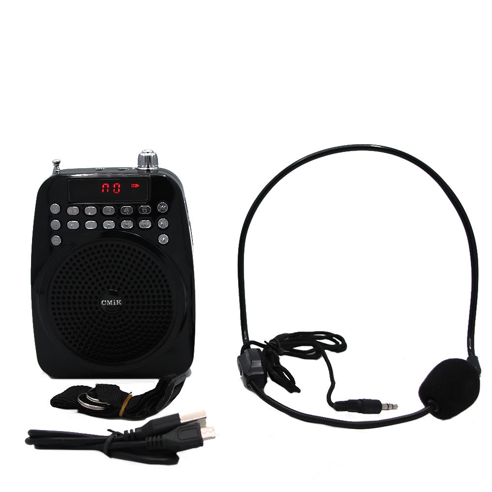 Loudspeaker AM/FM Radio digital microphone Recording W/MIC for Teacher and Guide Voice Amplifier
