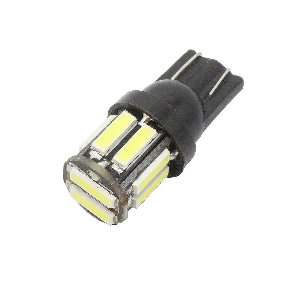<span class=keywords><strong>T10</strong></span> <span class=keywords><strong>W5W</strong></span> 10 7020 SMD Car LED 194 168 Wedge Replacement Reverse Lamp Instrument Panel Bulbs For Clearance Lights White Blue 12V DC