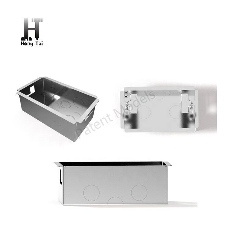 Professional OEM electrical metal switch box 2 Gang 47mm galvanised metal conduit junction box with all parts
