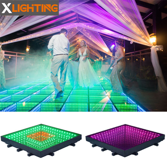 X Lighting Infinity Mirror Table 3d Time Tunnel Used Dance Floor For Sale