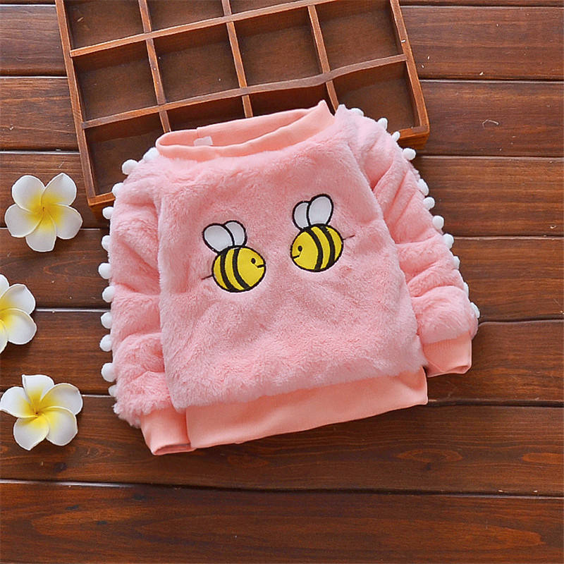 New design Cartoon bee pattern baby sweater cute warm comfortable baby girl sweater 6-48 months baby clothes