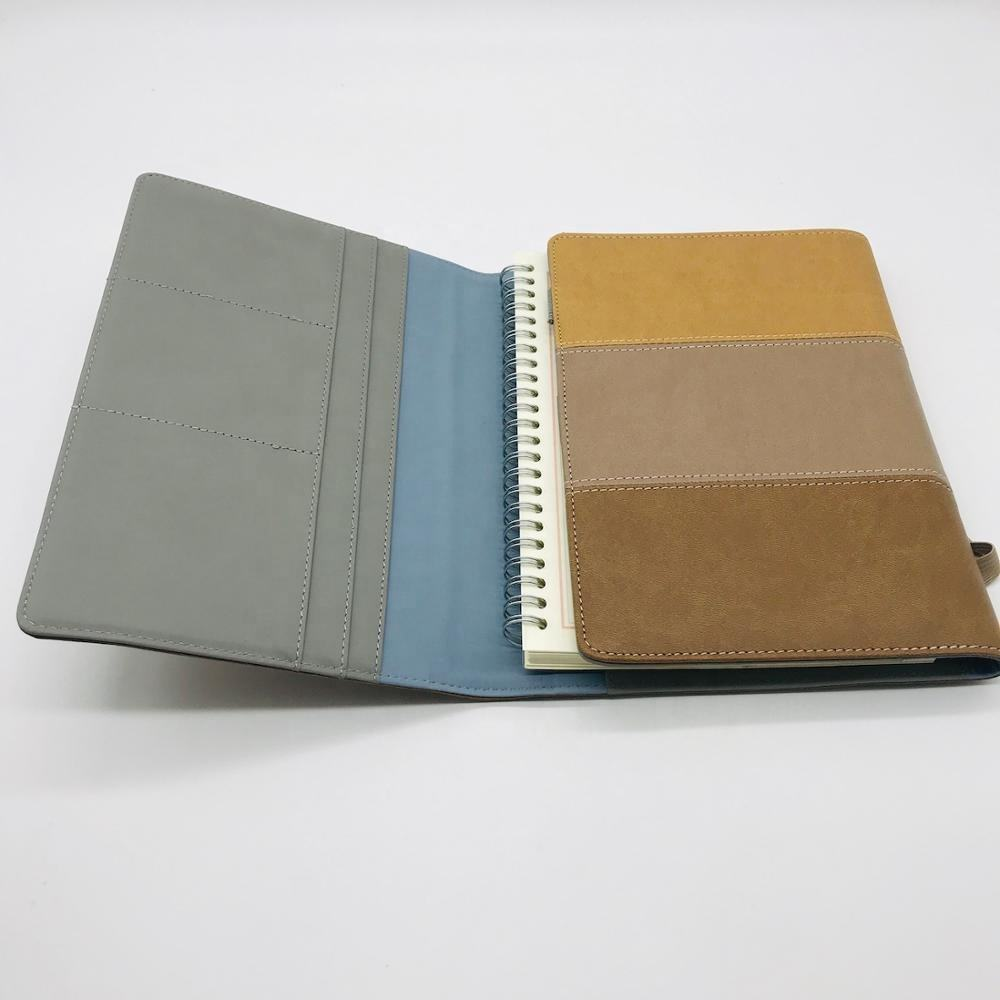 3 folded elastic band PU leather covers travelers notebook with refillable inner diary
