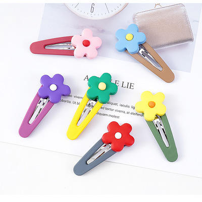Girls Cute Cartoon Flower Hairpins Children Lovely Hair Clips Barrettes Headband Kids Hair Accessories