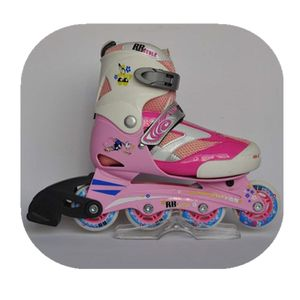 Fashion factory price pink blue red four wheel roller skate shoes for boys girls kids adult