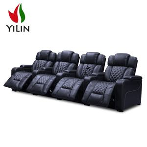 R130-1 Yilin Furniture Wholesale Recliner Seats Modern leather Home Theater seating luxury movie seats electric recliner