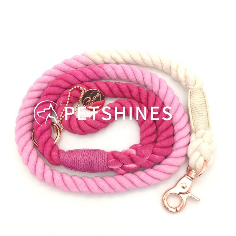 2020 Cotton Rope Ombre <span class=keywords><strong>Màu</strong></span> <span class=keywords><strong>Hồng</strong></span> Teal Tím Dog Leash Gradient Thẻ Riêng OEM Ombre <span class=keywords><strong>Dây</strong></span> <span class=keywords><strong>Xích</strong></span>