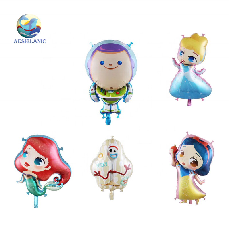 New 2020 disneyy cartoon foil balloon design princess series kid party decoration factory balloon supplier