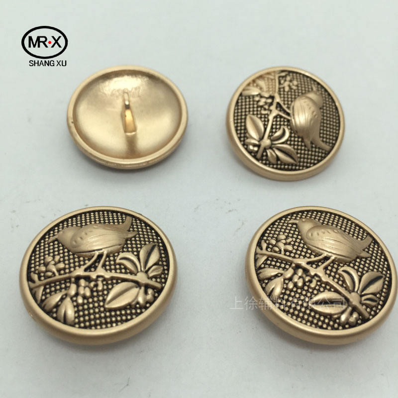 xu Garment Accessories Western Sew Metal Buttons for Shirts Coats