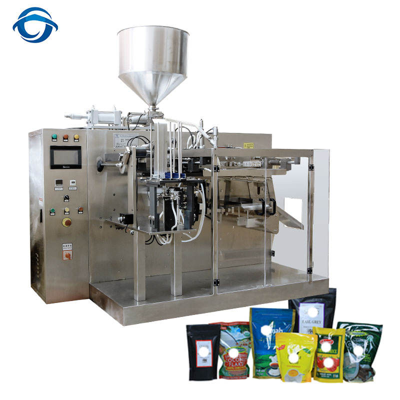 Dressing Sauce Oil Filling Preamade Stand Up Zipper Bag Packing Machine