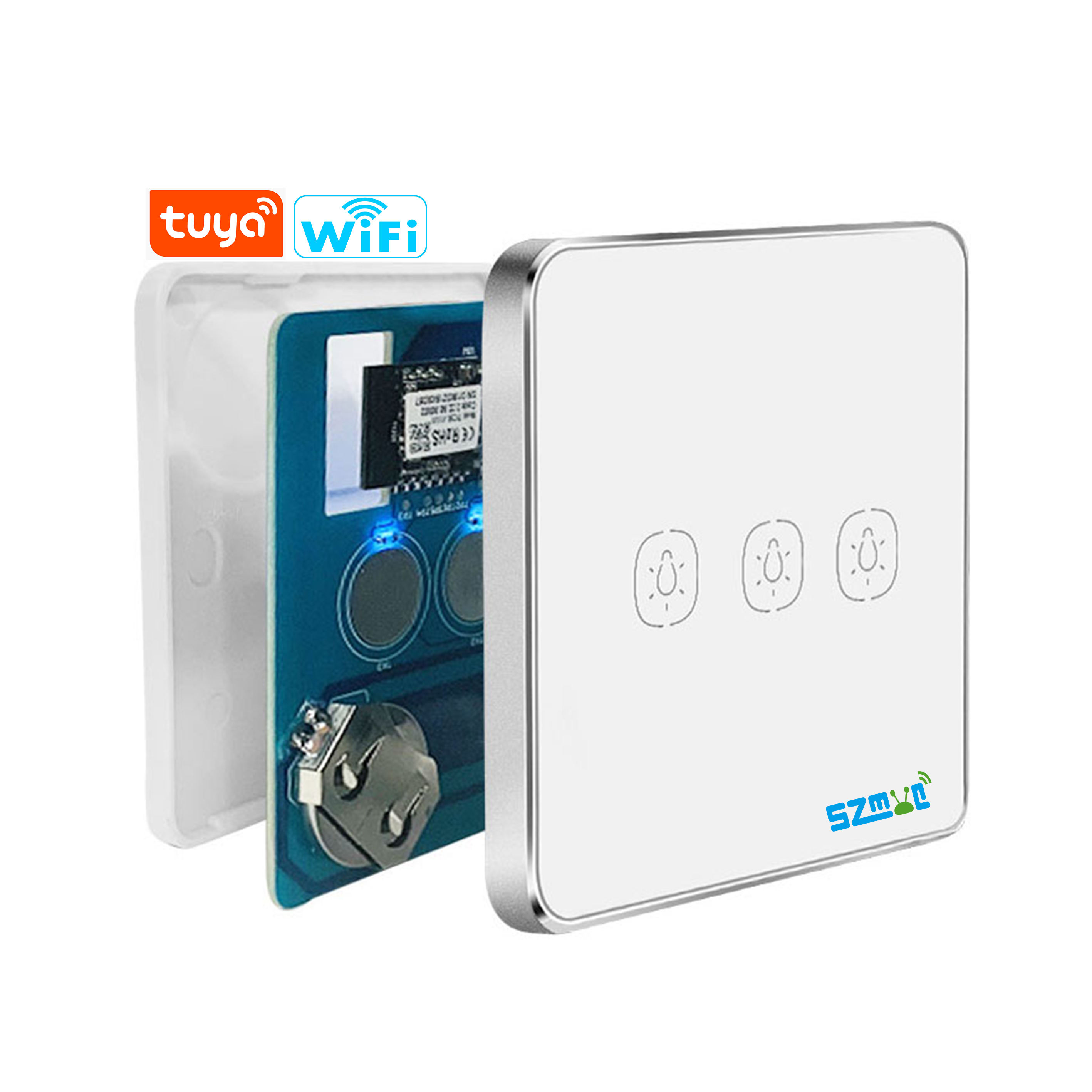 WIFI+Zigbee Smart Home Touch Electrical smart scene switch 100% succcess operation