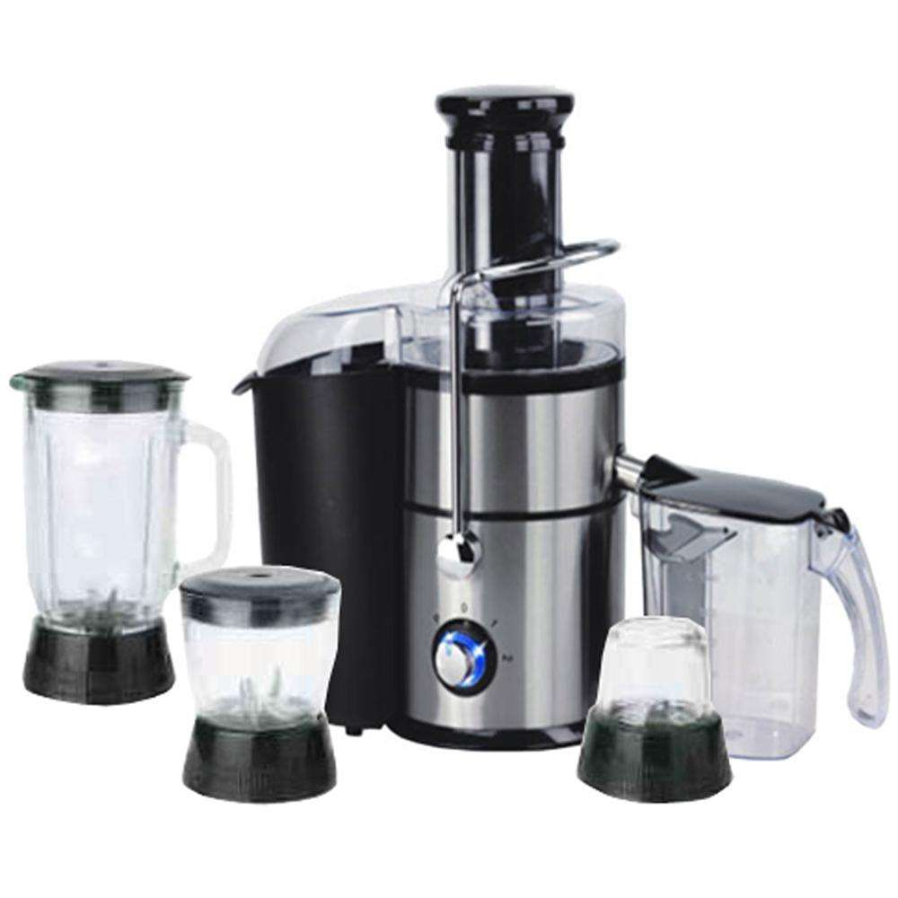 1000W 6 in 1 multifunction juicer blender with 3 glass jars