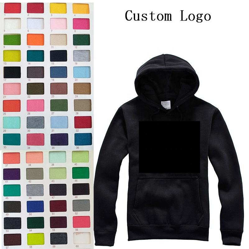 Wholesale cheap plain custom men long sleeve bulk sports 100% cotton hoodie