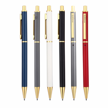 Elegant graceful metal ball point quality luxury full copper brass bronze pen
