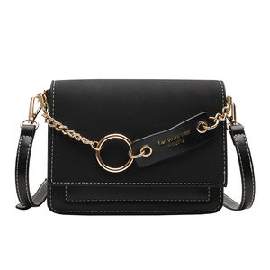 Frosted pu handbags contrast color female crossbody bag messenger bags