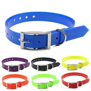 NiBao Popular Fluorescent And Soft TPU Hunting Dog Collar,Wholesale Plastic Coated Nylon Adjustable Dog Collar