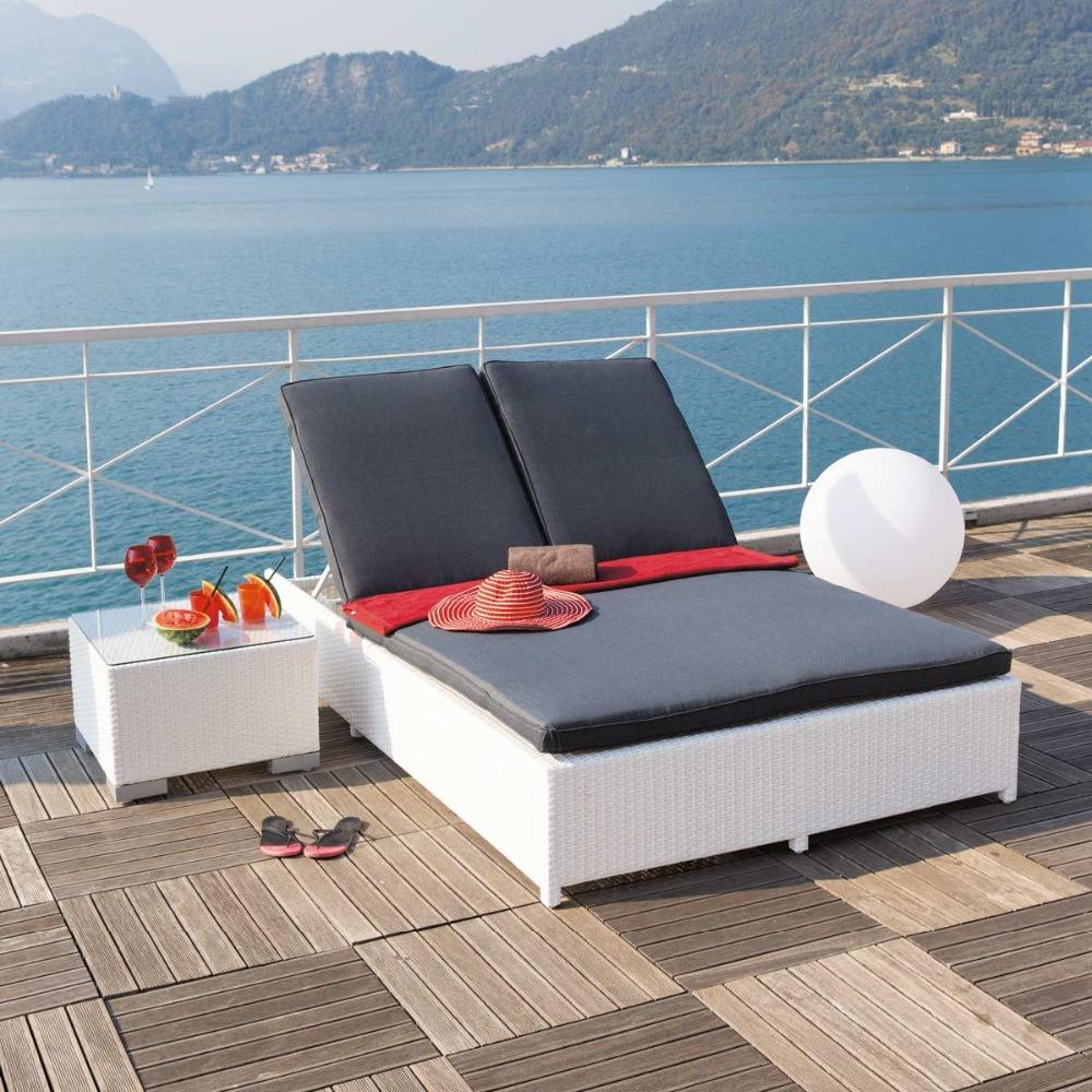 Sailing Leisure alta calidad al aire libre elegante Chaise Lounge, <span class=keywords><strong>doble</strong></span> Chaise Lounge al aire libre