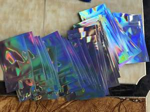 3.5g Aluminized plastic packaging holographic mylar ziplock bags