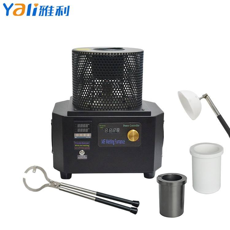 2KG 5Mins Speed Small Induction Melting Furnace Machine for Gold Silver Brass