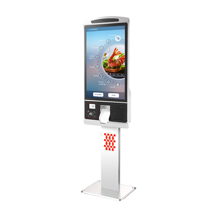 32 Inch Retail Ticketing Ordering Android Payment Terminal Touchscreen Self Service Touch Screen Kiosk Machine