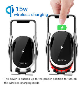 Factory OEM Air Vent Touch Control Cell Phone Holder Fast Charging Mount 15W Qi Wireless Mobile Phone Charger For Car
