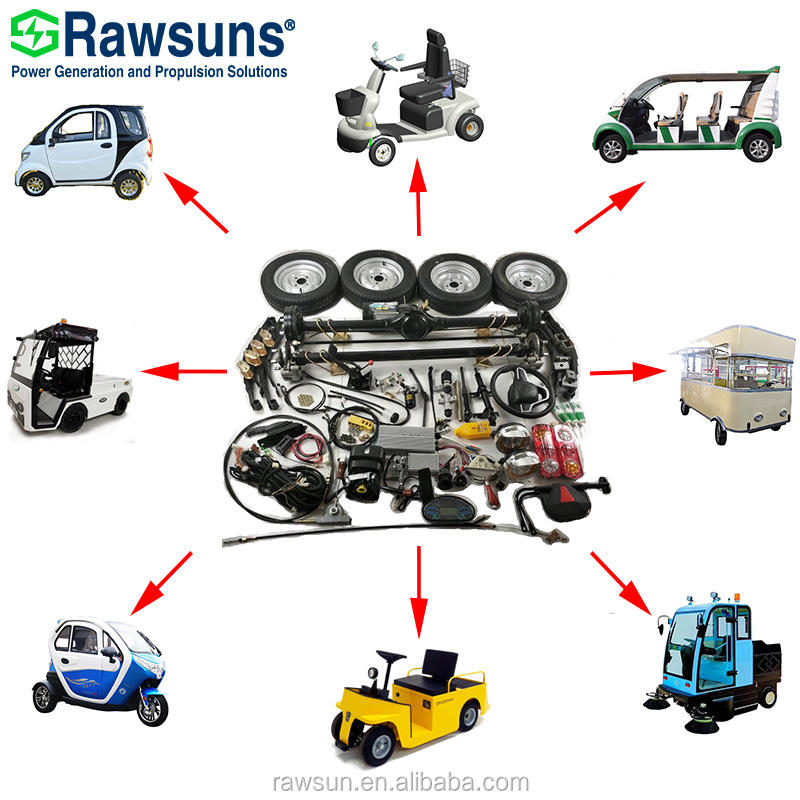 5.5kw - 15kw 17kw - 55kw EV electric car engine Conversion Kit for Motor sweeper Tour bus Food truck