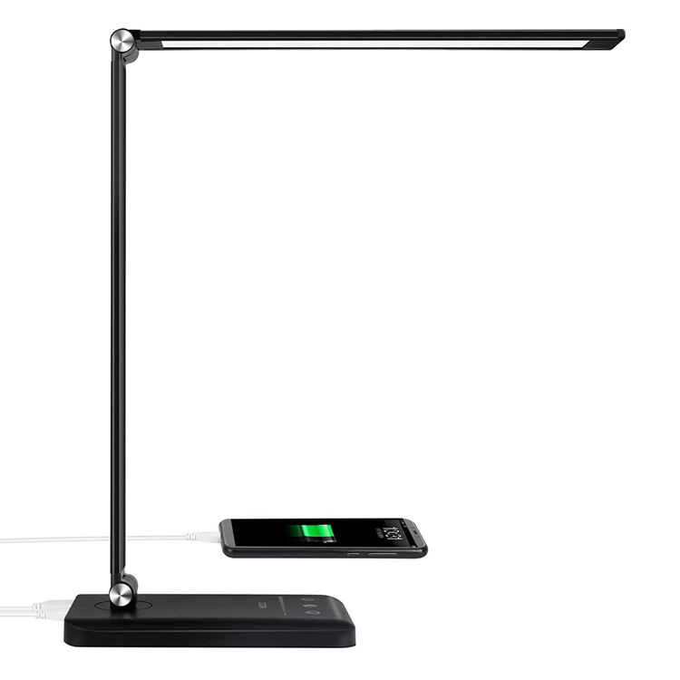 Multifunctional USB Charging Port Eye-Caring Table Lamps LED Desk Lamp