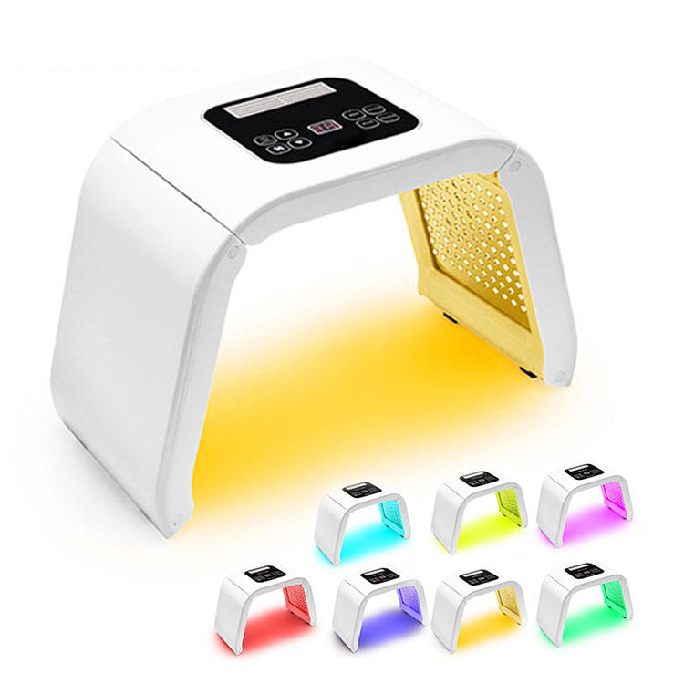Corea 7 Led Color de fotones de la terapia de luz de LED/Led cara máscara Facial con cuello