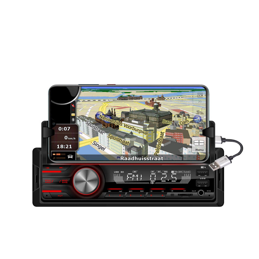 Feste panel dual FM USB SD MMC karte <span class=keywords><strong>player</strong></span> Auto mp3 <span class=keywords><strong>player</strong></span> mit Bluetooth und LCD display