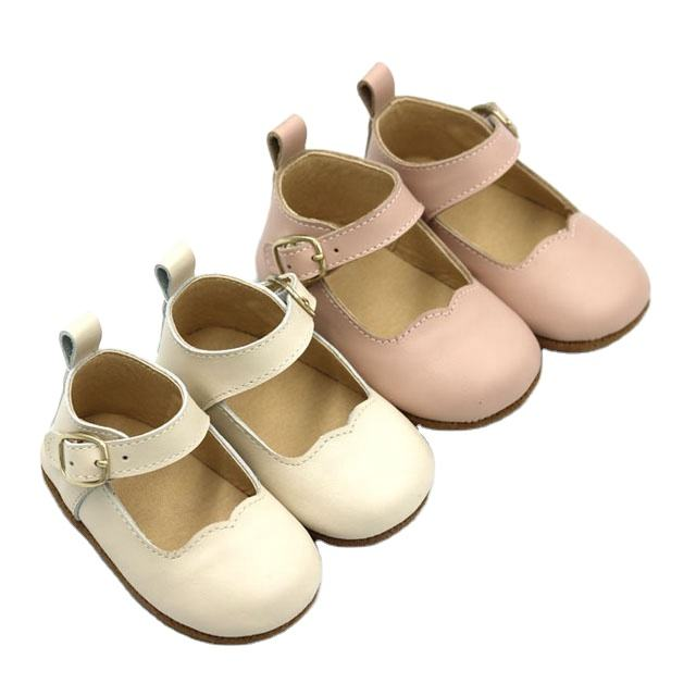 Cute Newborn Anti-slippery Soft Sole Buckle Strap Baby Dress Shoes