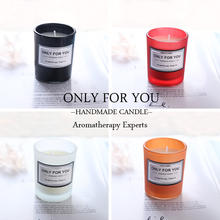 Wholesale luxury glass jar scented candles  luxury custom wood wick candle