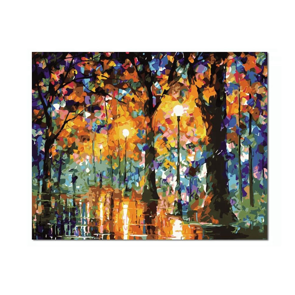 Custom DIY Painting Abstract Landscape Canvas Paint by Numbers
