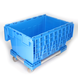 Wholesale Plastic Box Containers Wholesale Blue Logistics Storage Basket Plastic Turnover Box Plastic Folding Container
